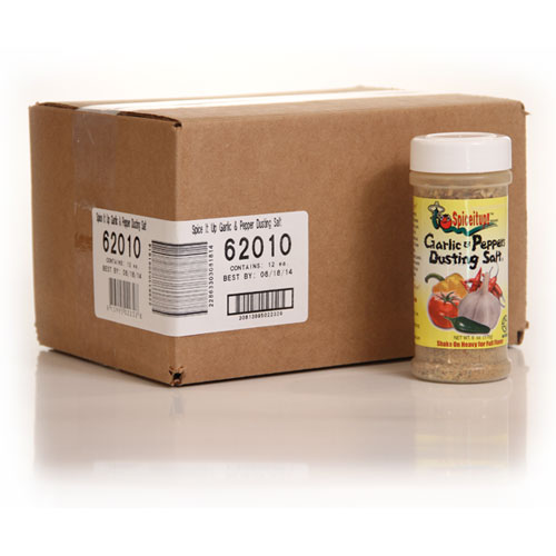 Garlic & Peppers Dusting Salt 6oz Case