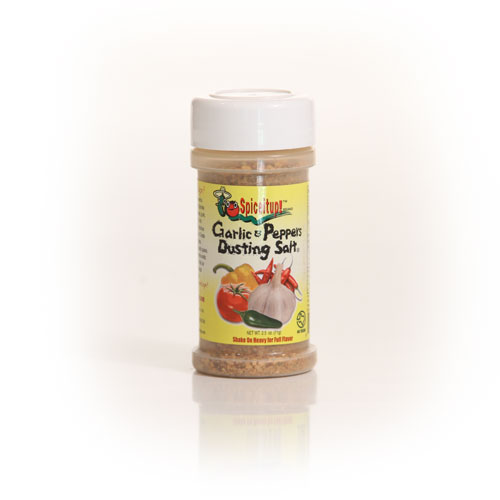 Garlic & Peppers Dusting Salt 2.5oz 6 Pack - Click Image to Close